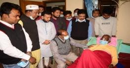 অসুস্থ জেলা আ.লীগ নেতার শয্যা পাশে মজিবর রহমান মজনু