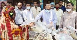 বগুড়া জেলা পরিষদের অর্থায়নে ৫ হাজার মানুষের মাঝে ত্রাণ বিতরণ