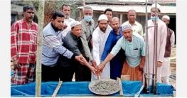দুপচাঁচিয়ার মেইল বাসস্ট্যান্ডে মসজিদ নির্মান কাজের উদ্বোধন