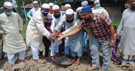 কাহালুর মাস্টারপাড়ায় বাইতুস সানাফ মসজিদের ভিত্তি প্রস্তর স্থাপন