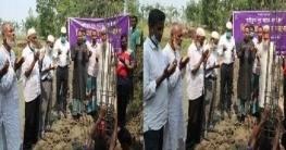 সোনাতলায় বাইতুন নূর জামে মসজিদের ভিত্তিপ্রস্তর স্থাপন