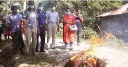 গাবতলীতে মোবাইল কোর্টে জব্দকৃত খরা ও কারেন্ট জাল ভষ্মিভূত