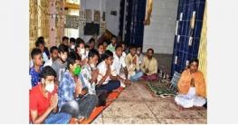 বগুড়া চেলোপাড়া কালী মন্দিরে যুবলীগ, ছাত্রলীগের বিশেষ প্রার্থনা
