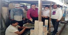 সোনাতলা রেলওয়ে বাজার হাটসেডের সংস্কার কাজের উদ্বোধন