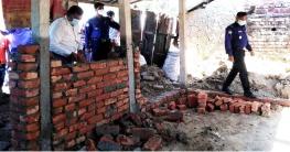 নন্দীগ্রামে সরকারি জায়গায় অবৈধ স্থাপনা উচ্ছেদ অভিযান