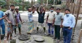 সরকারী ব্যয়ে মহিষাবান হাট ৪তলা মার্কেট'র কাজের অগ্রগতি পরিদর্শন