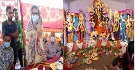 সোনাতলায় দূর্গাপূজার বিভিন্ন মন্ডপ পরিদর্শন করেন সাহাদারা মান্নান