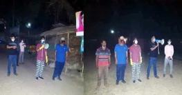 করোনা'র ঝড়ে শাজাহানপুরে দিন রাত মাঠে উপজেলা চেয়ারম্যান ও ওসি