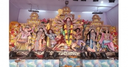 বগুড়ায় দেবী দুর্গার মহাসপ্তমী পূজা অনুষ্ঠিত