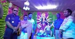 বগুড়া নিশিন্দারা ইউপির চাঁদপুর সুত্রধর দুর্গা মন্দির পরিদর্শন